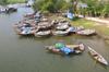 Boats near Trà Quế