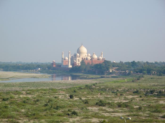 Distant Taj Mahal